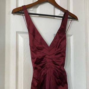 Burgundy Papell Boutique Formal Satin Gown Size 4